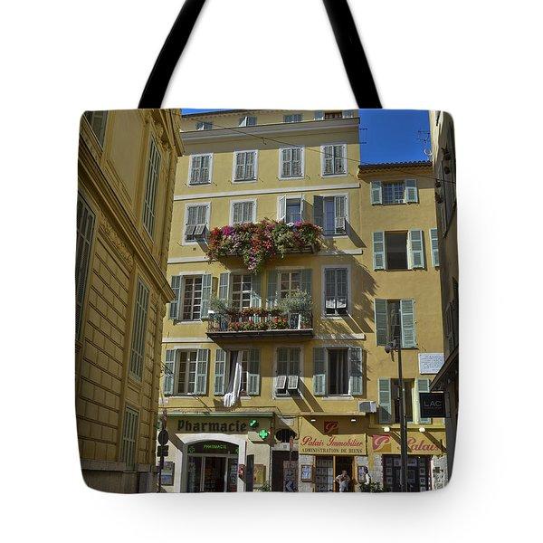 A Corner In Nice Tote Bag by Allen Sheffield