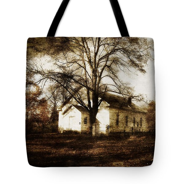 A Country Church Tote Bag by Cynthia Lassiter