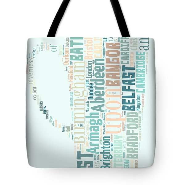 A Cup Of Britain Tote Bag by Georgia Fowler