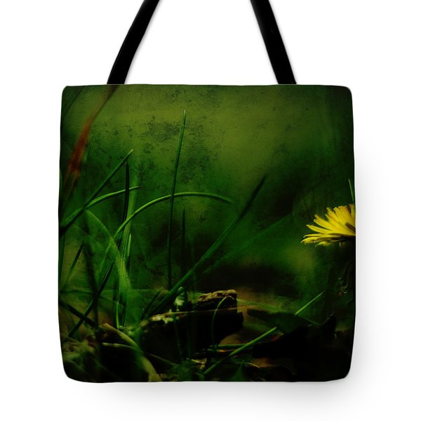 A Darkness Befalls The Dandelion Tote Bag by Rebecca Sherman