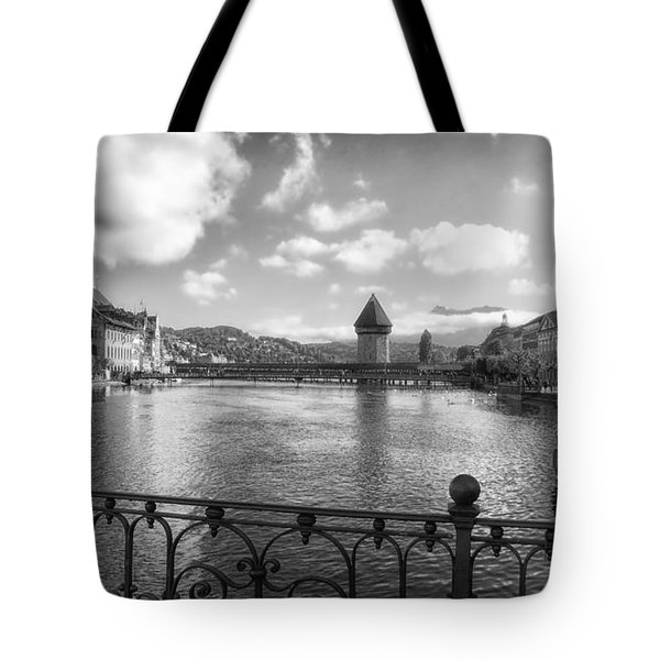 A Day in Lucerne Tote Bag by Mountain Dreams