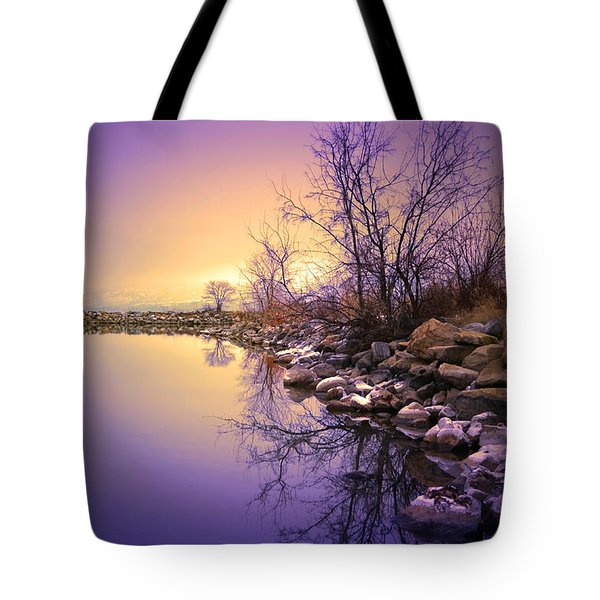 A Distant Glow Tote Bag by Tara Turner
