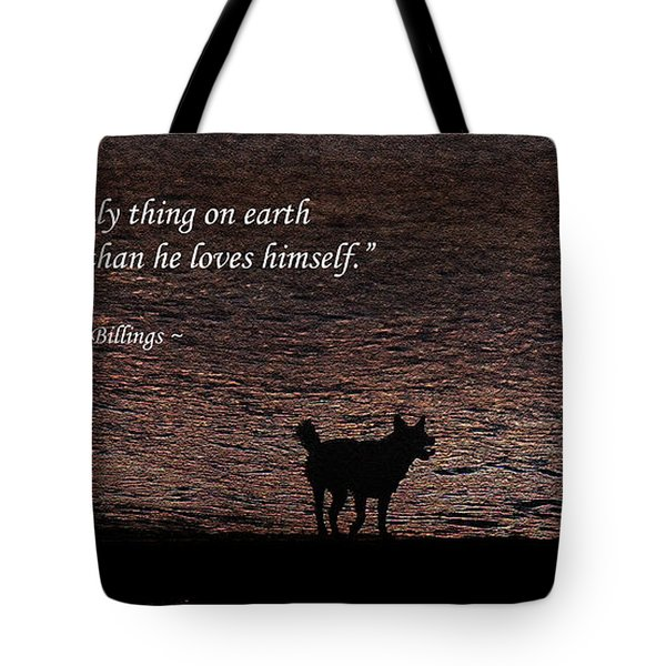 A Dog Tote Bag by Olahs Photography