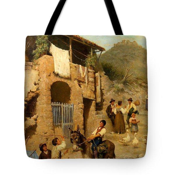 A Donkeys Reward Tote Bag by Francesco Bergamini