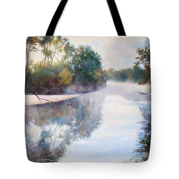 A Foggy Day Tote Bag by Nancy Stutes
