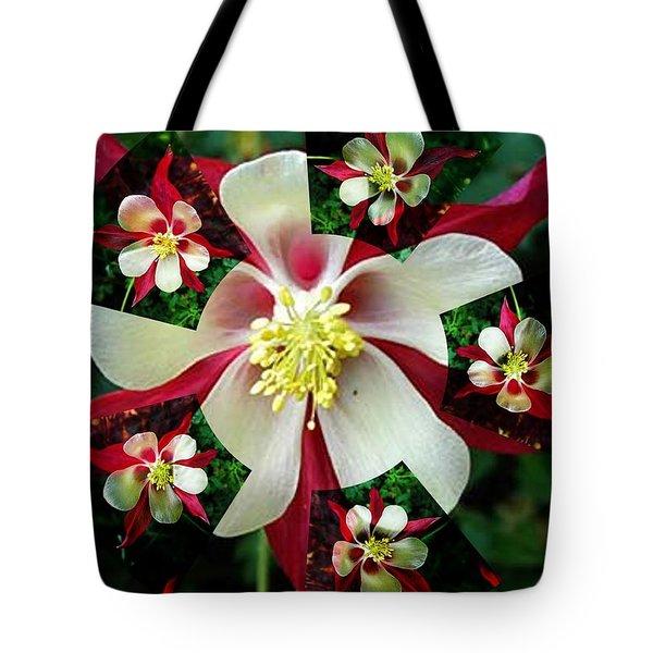 A Fractal Granny Bonnet Tote Bag by Nancy Pauling
