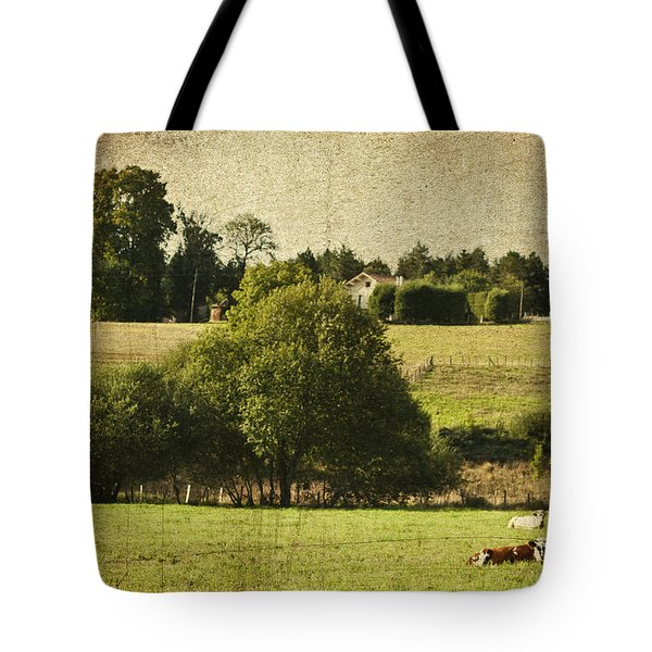 A French Country Scene Tote Bag by Nomad Art And  Design