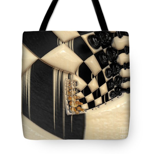 A Game Of Chess Tote Bag by Liane Wright