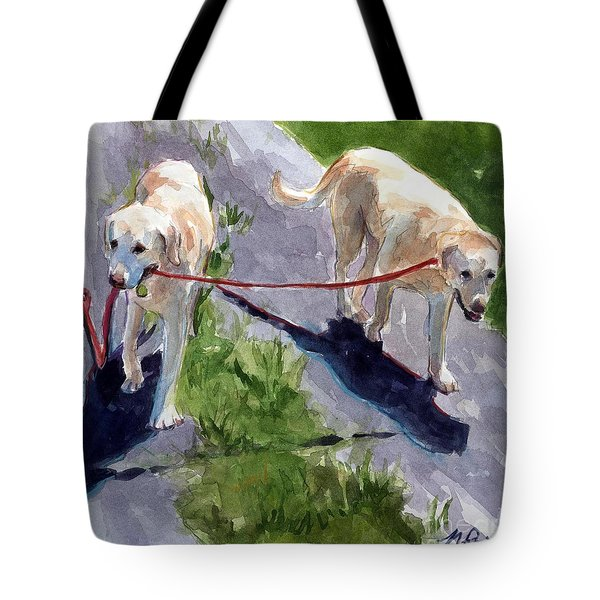 A Gentle Lead Tote Bag by Molly Poole