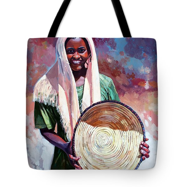 A Girl From The Countryside Tote Bag by Mohamed Fadul
