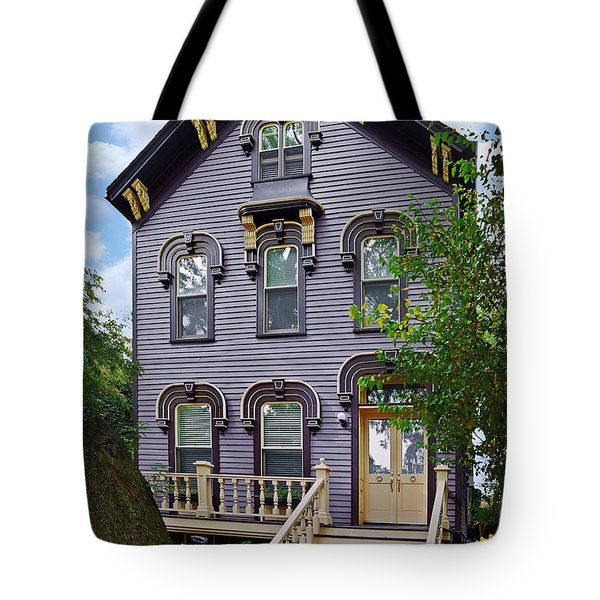 A glimpse into Old Town Chicago Tote Bag by Christine Till