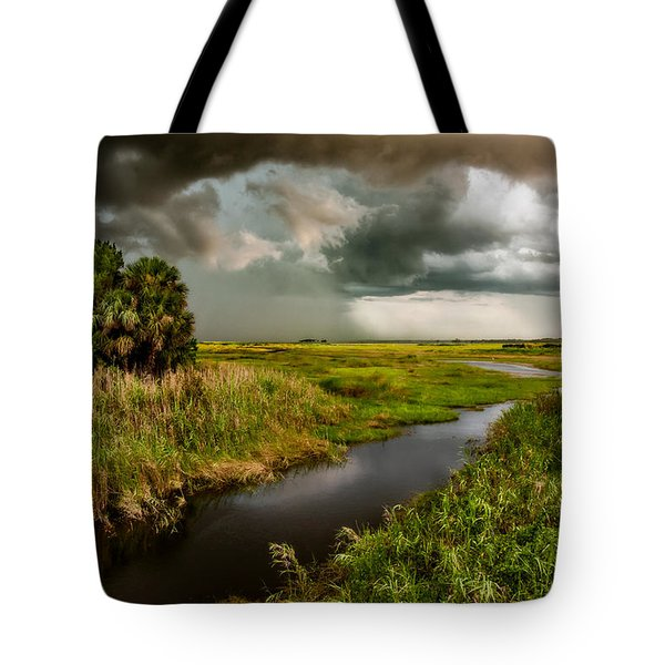 A Glow On The Marsh Tote Bag by Christopher Holmes