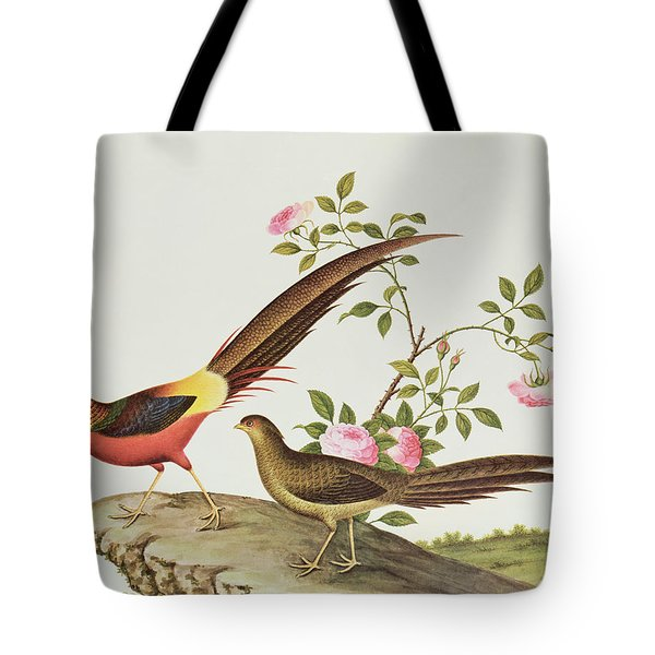 A Golden Pheasant Tote Bag by Chinese School