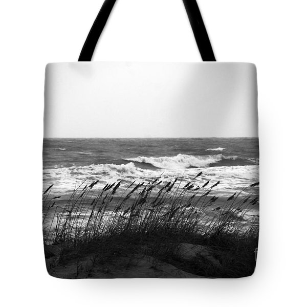 A Gray November Day at the Beach Tote Bag by Susanne Van Hulst