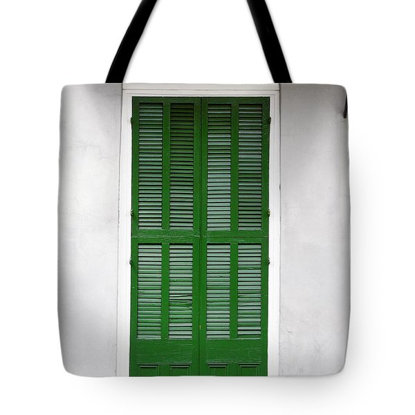 A green door in New Orleans Tote Bag by Christine Till