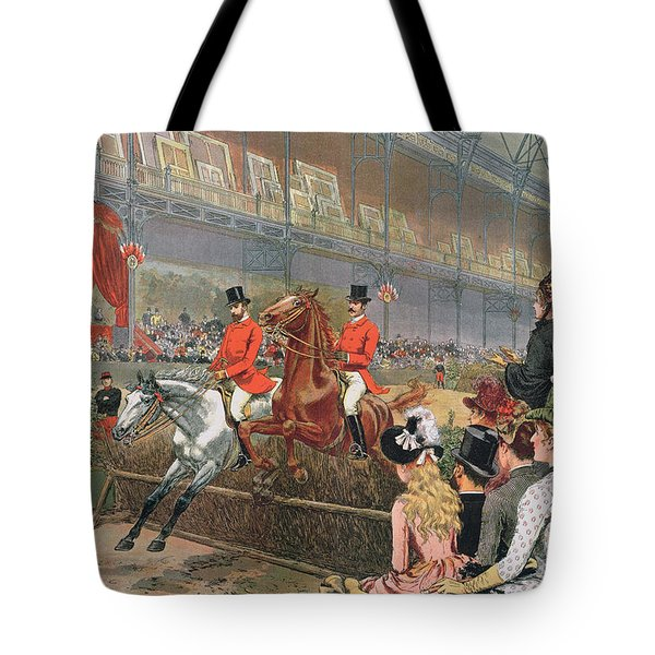 A Horse Race Tote Bag by Adrien Emmanuel Marie