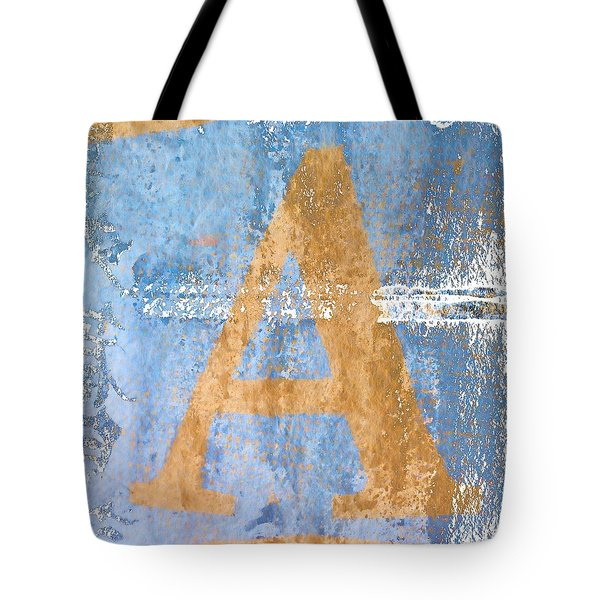 A In Blue Tote Bag by Carol Leigh