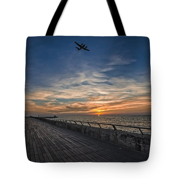 a kodak moment at the Tel Aviv port Tote Bag by Ron Shoshani