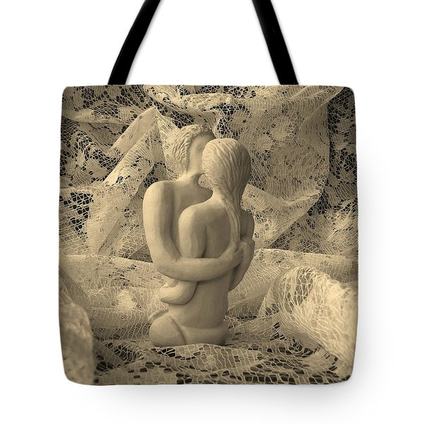 A Lace Kiss Tote Bag by Barbara St Jean