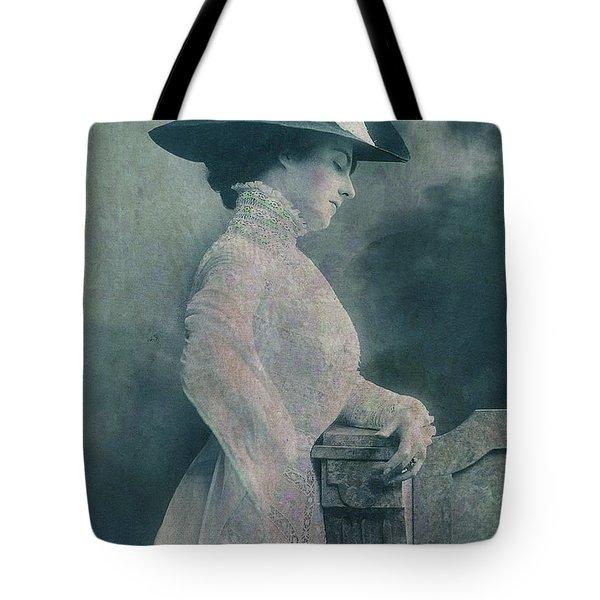 A Lady Ponders Tote Bag by Sarah Vernon