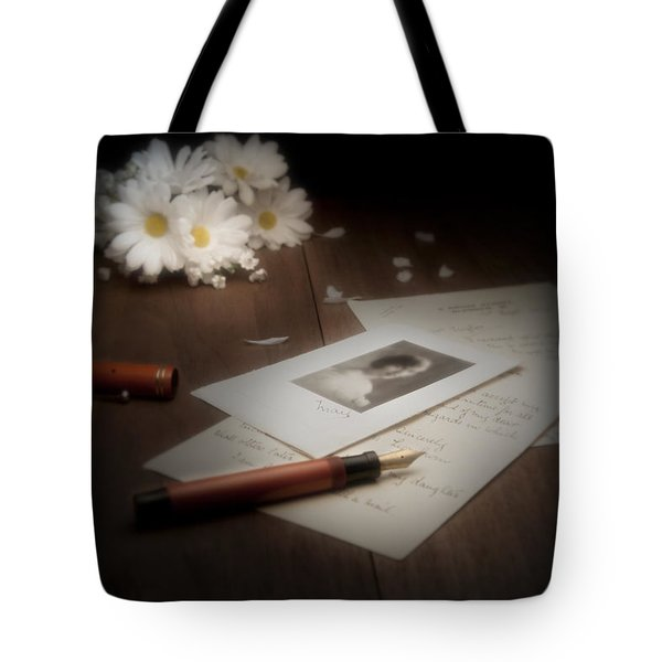 A Letter from Mary Still Life Tote Bag by Tom Mc Nemar