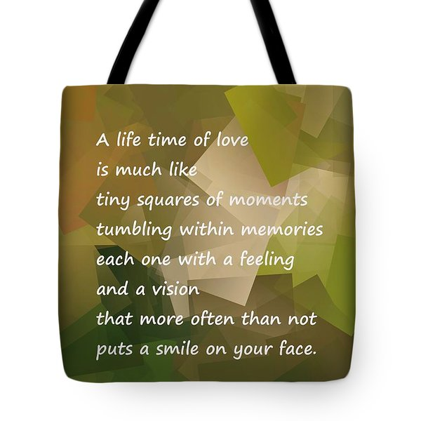 A Life Time Of Love Tote Bag by Jeff Swan