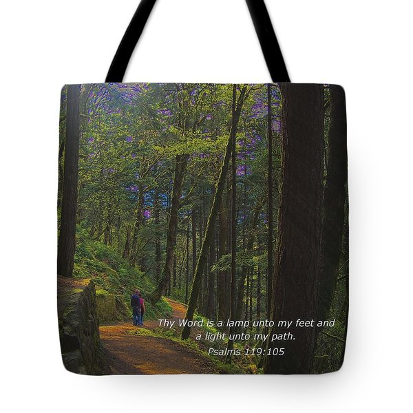 A Light Unto My Path Tote Bag by Charles Robinson