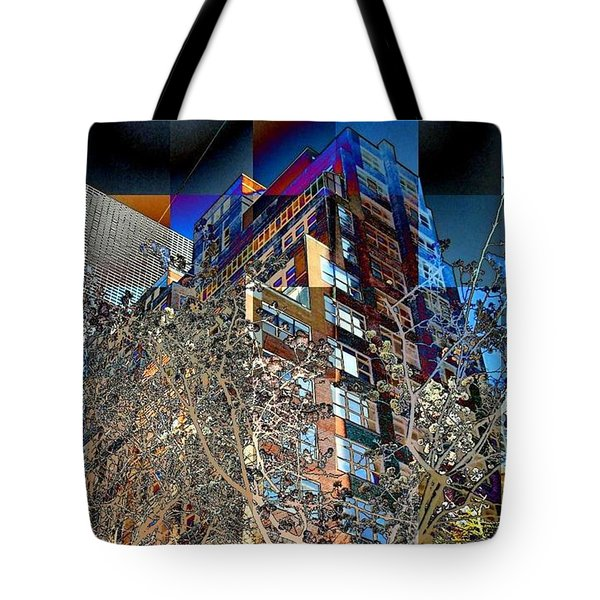 A Little Bit Of Spring In The City Tote Bag by Miriam Danar