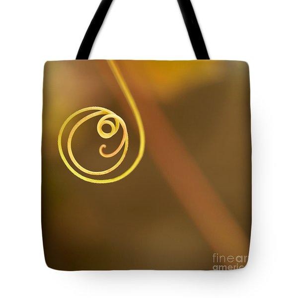A Little Curl Tote Bag by Sabrina L Ryan