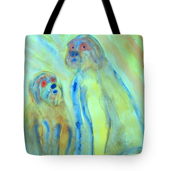 a little troll family  Tote Bag by Hilde Widerberg