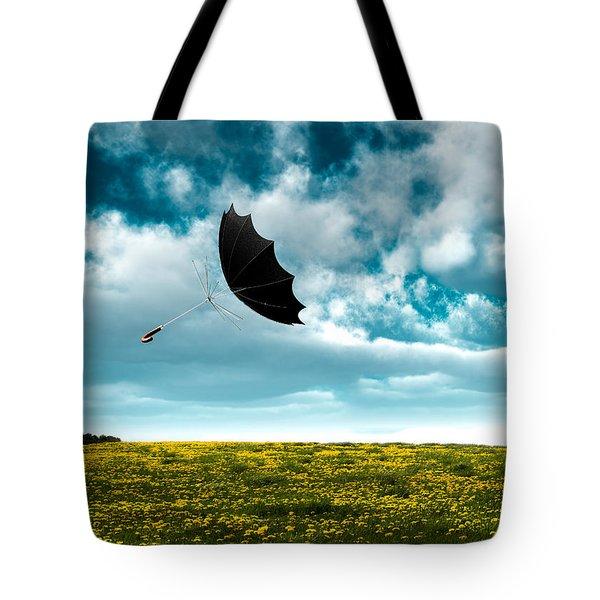 A Little Windy Tote Bag by Bob Orsillo