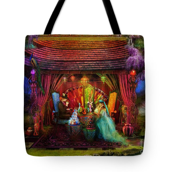 A Mad Tea Party Tote Bag by Aimee Stewart
