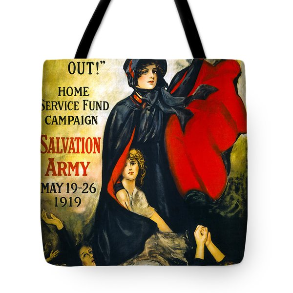 A MAN MAY BE DOWN . . .   1919 Tote Bag by Daniel Hagerman