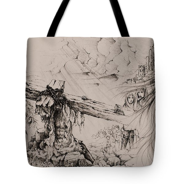 A man of sorrows Tote Bag by Rachel Christine Nowicki