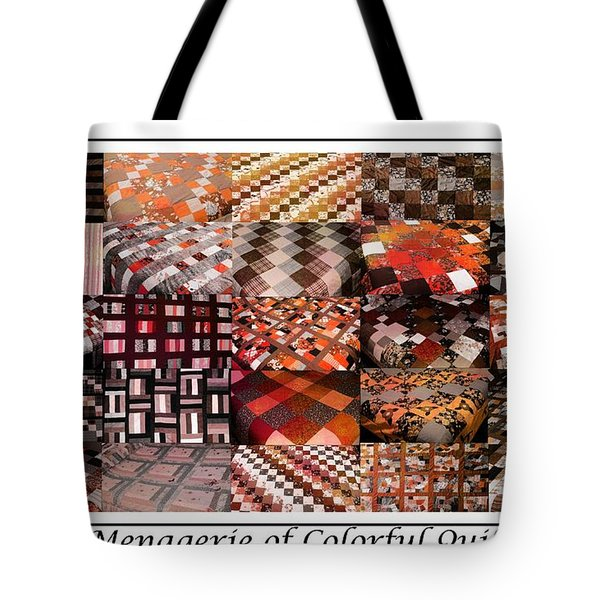 A Menagerie Of Colorful Quilts -  Autumn Colors - Quilter Tote Bag by Barbara Griffin