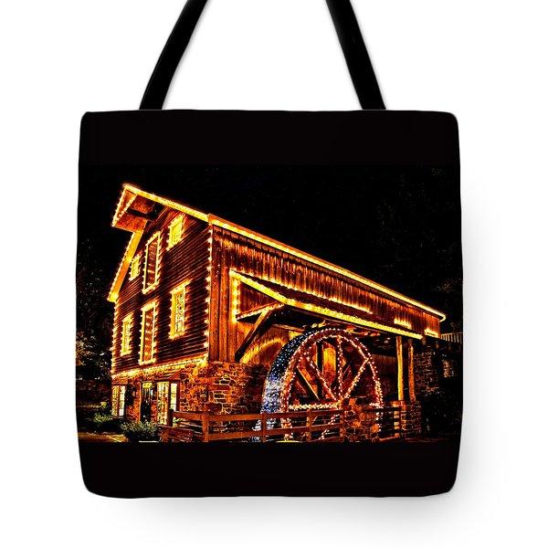 A Mill In Lights Tote Bag by DJ Florek