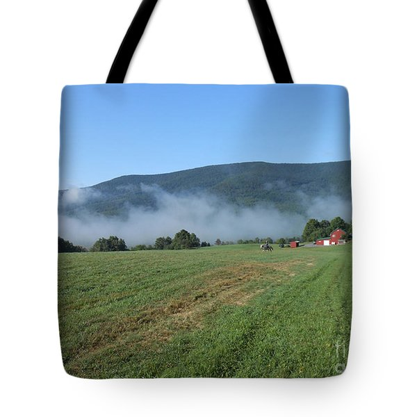 A Morning Ride On Our Paso Fino Stallions Tote Bag by Patricia Keller