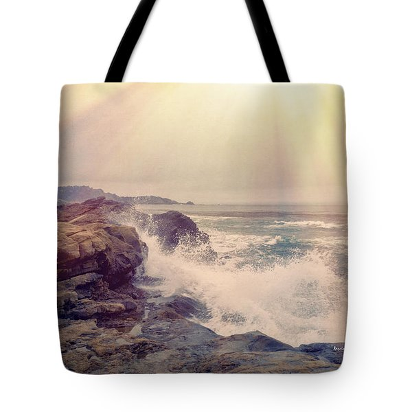 A Mysterious Morning - Point Lobos Tote Bag by Angela A Stanton