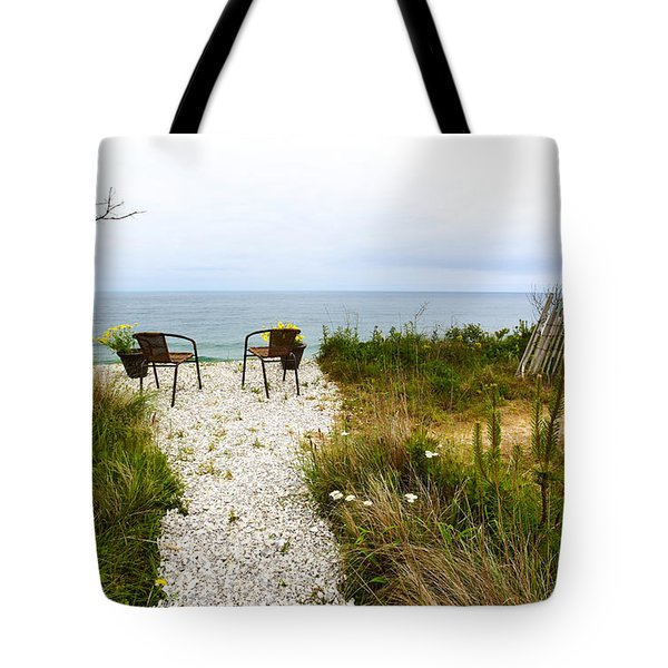 A Peaceful Respite by the Shore Tote Bag by Michelle Wiarda