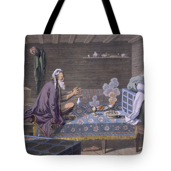 A Persian Doing His Morning Prayers Tote Bag by E. Karnejeff