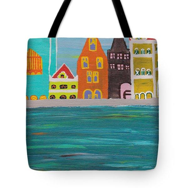 A Pink View Tote Bag by Melissa Vijay Bharwani