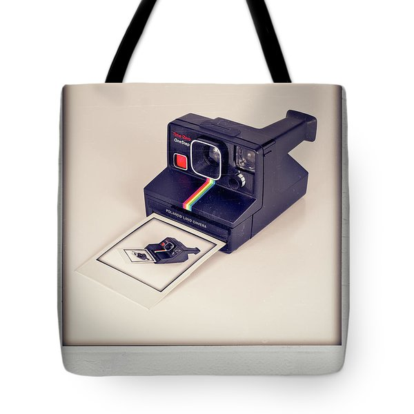 A Polaroid Of A Polaroid Taking A Polaroid Of A Polaroid Taking A Polaroid Of A Polaroid Taking A .. Tote Bag by Mark Miller
