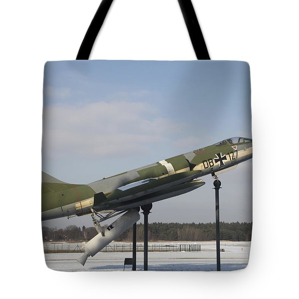 A Preserved F-104g Starfighter Tote Bag by Timm Ziegenthaler
