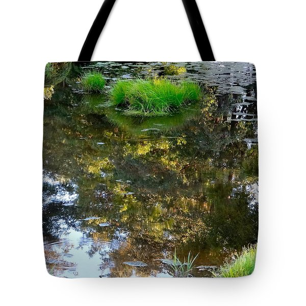 A Quiet Little Pond Tote Bag by Ira Shander