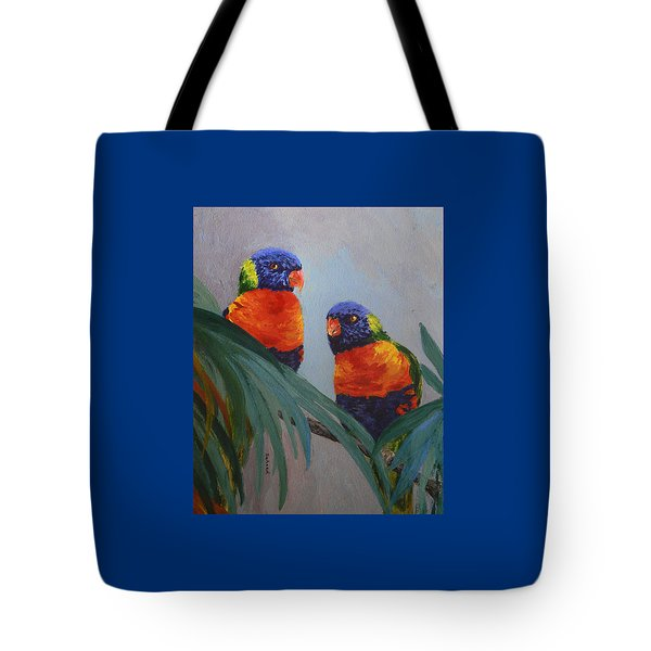 A Quiet Moment Together Tote Bag by Margaret Saheed