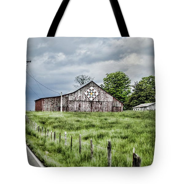 A Quilted Barn Tote Bag by Heather Applegate