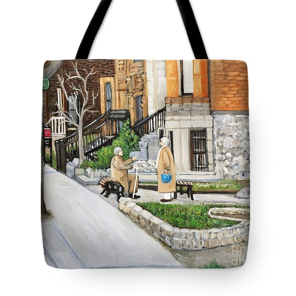 A Rest On Summerhill Avenue Tote Bag by Reb Frost