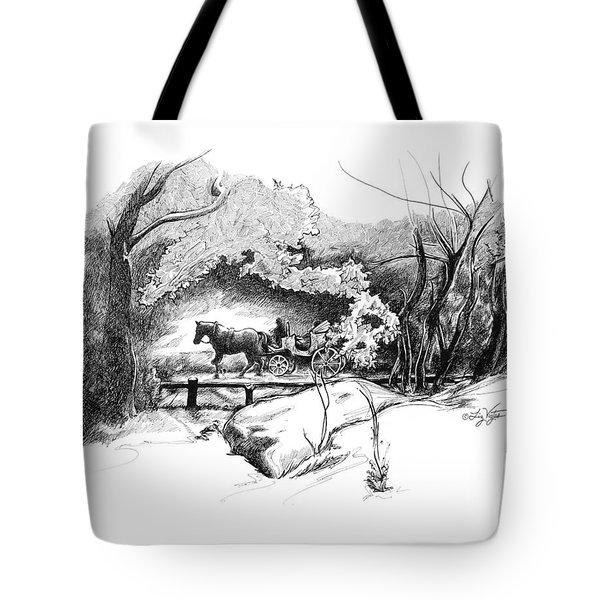 A Ride Through Central Park Tote Bag by Liz Viztes