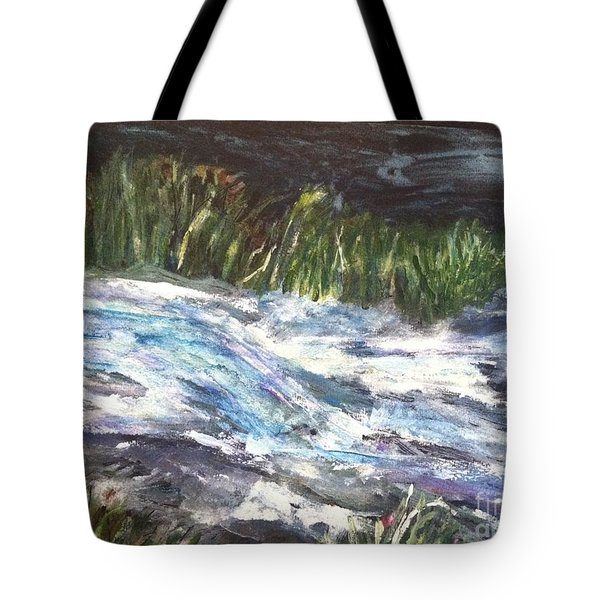 A River Runs Through Tote Bag by Sherry Harradence