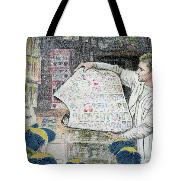 A Roll Of Baseball Cards Tote Bag by Yoshiko Mishina